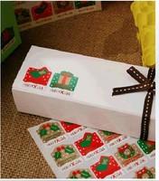 80pcs Christmas gift sealing paste / decorative paste version Christmas stickers