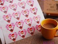60pcs Christmas Santa gift sealing paste / decorative paste version Christmas stickers