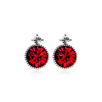 Classic Style 18K White Gold Plated Earring Austrian Crystal