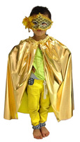 Free shipping Children's Halloween costume dress Christmas performances cloak children clothes Gold Red  Silver S M