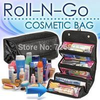6pcs/lot Fashion Utility Roll-N-Go Cosmetic Bag Women Makeup Hanging Toiletries Storage Travel Kit Jewelry Organizer