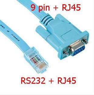 original RJ45 TO RS232 configuration line, network cable turn a serial port line 1.5 meters DB9 / COM port(China (Mainland))