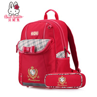 Beini Rabbit 2014 New Preppy Style 3-6 grades backpack schoolbag