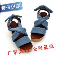 2014 summer new bohemian lace shoes Roman sandals women flat shoes canvas bubble