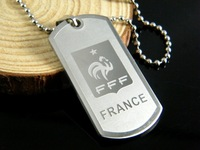 316L Stainless Steel 2014 Brasil World Cup (FRANCE) TEAM pendant titanium steel necklace pendant sterling silver jewelry