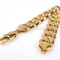 """7"""" 12mm Curb Chain Soild 14k 14ct Yellow Gold Filled Womens/Chrildrens Bracelet"""