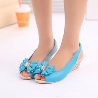 The new summer fashion sandals women waterproof bow wedges