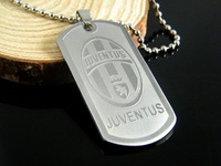 316L Stainless Steel 2014 Brasil World Cup (JUVENTUS) TEAM pendant silver titanium steel pendant sterling silver jewelry
