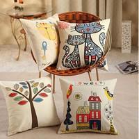 New Fashion Hold Cushion Cover Pillow Case Waist Pillow Cotton Pillowcase