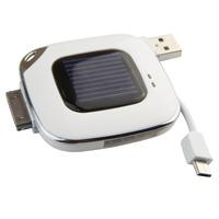 2pcs/lot Free shipping Mini i Phon e4/4s Solar emergency power charger/bank