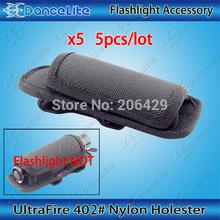 5pcs/lot New UltraFire Flashlight Holster Rotate Belt Clip #402 Nylon Torch Pouch(China (Mainland))