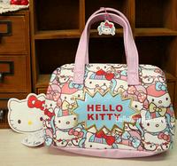 Popular bags hello kitty kimono Portable Cosmetic bag girls/women makeup bag pouch small bag