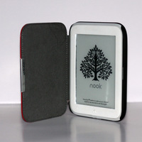 High Quality Crazy Horse Magnetic PU Leather Case Cover For Barnes & Noble Nook GlowLight free shipping cy