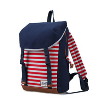 Beini fresh rabbit backpack schoolbag new female Korean fashion preppy striped backpack