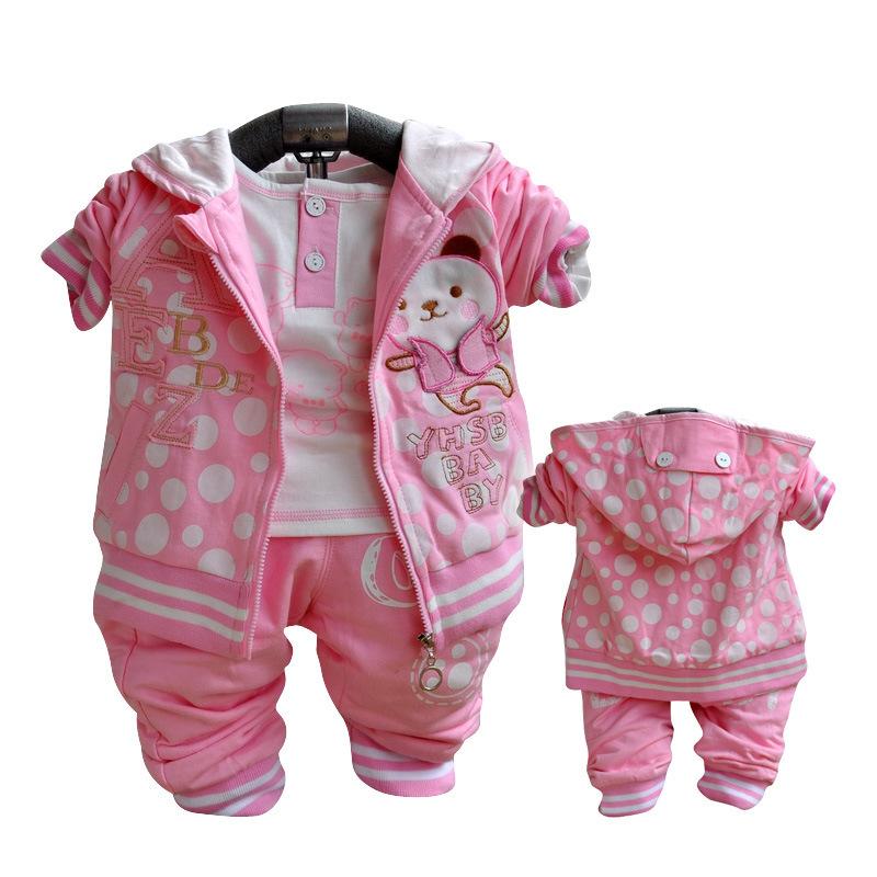 Комплект одежды для девочек Babyrow , 3pieces + + 4324 комплект одежды для девочек babyrow 2015 roupas infantil meninas baby 0515
