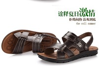 New arrivals  Men's Sandals Slippers Summer Cow leather Casual shoes 2 colors