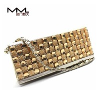 2014 summer new Fashionable Rhinestone Shiny Shoulder diagonal  Day clutches Evening Bags