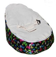 Free shipping night sky butterfly cream baby beanbag chair, original toddler bean bag seat