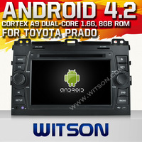WITSON Android OS 4.2 Capacitive screen CAR DVD GPS TOYOTA PRADO 120 Built in 8GB Flash+Free Shippingping+GIFT