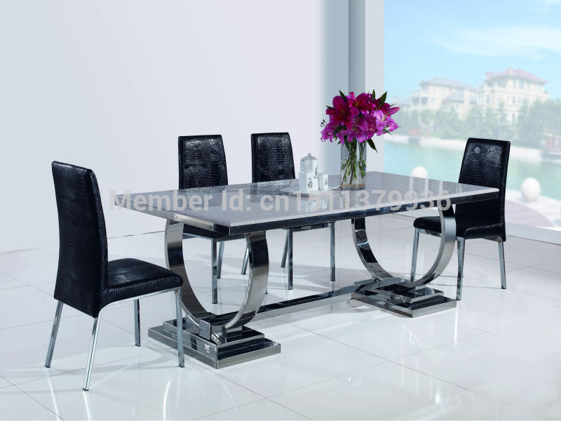New fashion living room furniture stainless steel dining for Metal living room chairs
