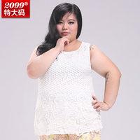 2014 new women plus size women clothing crochet vest ladies plus size basic sleeveless tank top shirt 4xl 6xl 8xl 10xl
