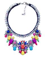 Christmas Gift Women Big-name Handmade Acrylic Statement Exaggerate Chunky Chain Shourouk Pendant Necklace ND8932