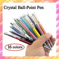 10pcs Gift Crystal pen Diamond ballpoint pens Stationery ballpen pens for friend students lover Office material school supplies