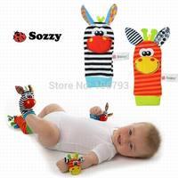 5pcs/lot Baby Cute Lovely Infant Kids Foot Socks Rattles finders Glove Toys Developmental Stuffed & Plush