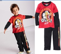 Retail Free shipping 2014 Autumn New Arrival boy clothing set,sports style shirt + pants set,boy sports set,kids clothing set