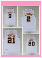 A+++ new 2014 the finals champion white San Antonio basketball jerseys Tim Duncan Manu Ginobili Tony Parker Kawhi Leonard jersey