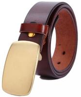 Men Genuine leather Belts High quality cowskin Bronze Slide buckle Cintos cinturon 4 Colos Brand designer M160 New arrival