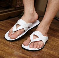 Men's summer cool slippers slippers male fashion World Cup beach non-slip rubber flip-flops men leather slippers