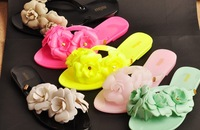 Camellia jelly sandals and slippers thong sandals Slipper Women