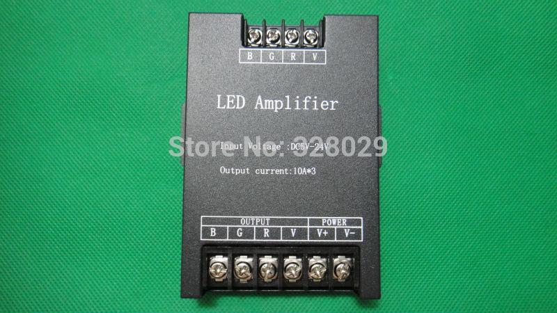 Nouveau 2014 led rgb amplificateur 30a dc5v-24v de puissance rgb amplificateur répéteur amplificateur de puissance rgb led livraison gratuite