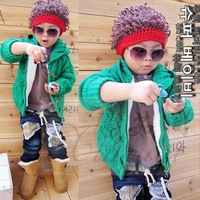 Winter Korean version of the influx of male and female baby children curly hair style wool cap hat head explode #00M BM002