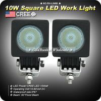 2x10W CREE LED Flood Work Light 800lm Driving Fog lamp Car 4x4Jeep Offroad ATV 12V24V