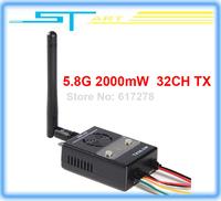 2014 new version Boscam FPV 5.8GHz 32CH 2000mW Wireless Audio Vedio AV Transmitter TX TX58-2W rx for RC helicopter Drop  boy toy