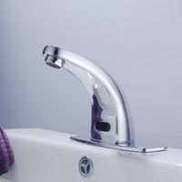 Free Shipping New Arrival Brass Chrome Finish Water Tap Bathroom Automatic Sensor Faucets Bathroom Sensor Tap torneira banheiro