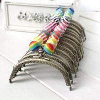 k234 stripe lollipop Candy bead Metal-opening Bags 12.5CM arc-shaped knurling lace Metal Purse frame Kiss Clasp 10pcs/lot