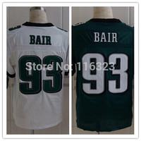2014 Men's Football Jersey  Brandon Bair #93 Elite Sprots Jerseys-Green,White Size:40~56+Free Shipping,Mix Order