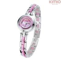 2014 Brand New Kimio Women Wristwatch Bracelet Dress Casual Watch w/ Rhinestone Dial Colorful Alloy Sytle
