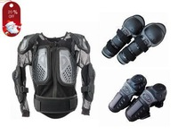 Free shipping 2014 New Style CE Standard Motorcycle Body Armour+Knee guard+Eblow guard