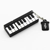 Retail new 2014 silicone cartoon Piano shaped USB Flash Drive pendrive flash memory stick mini gift pen drive Drop Free shipping