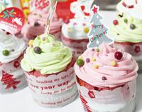 50pcs/lot christmas cup cake mousse cake decoration tool