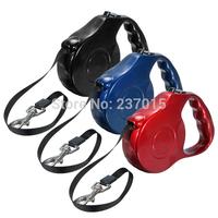 New 3 Color 5M Automatic Retractable Leash Lead Strap Adjustable Dog Leash Rope