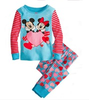 6set/lot wholesale 2pcs set kids minnie t-shirt pant clothes cartoon gril's clothes sets child homewear clothing
