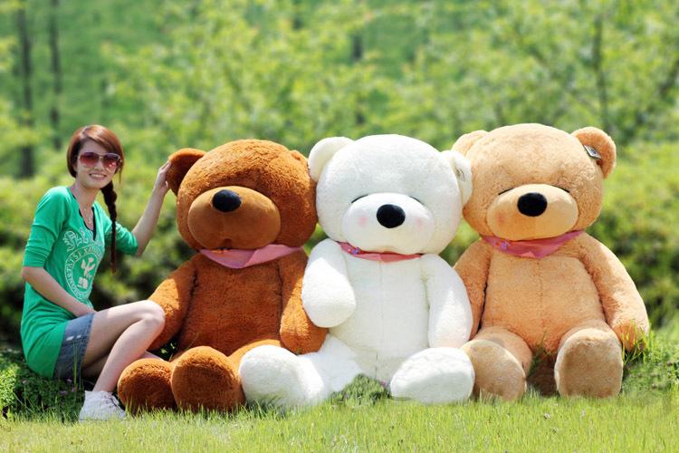 huge 140cm white Teddy bear plush toy squint eyes bear doll throw pillow gift w3916(China (Mainland))