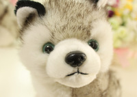 Free shipping super cute 18cm  little puppy dog huskies creative simulation doll plush toys baby gift.