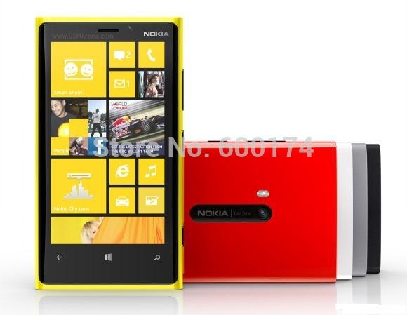 Hot déverrouillé téléphone bon marché d'origine nokia lumia 920 windows wifi 3g 4g 8mp lte. Caméra intelligente rénové. téléphones mobiles