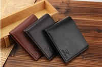 Promotion! Quality assurance Cowhide wallet,Men's genuine leather with pu wallet,man leather purse/wallet for men wholesale W893
